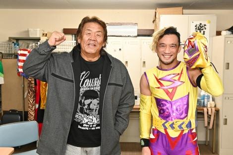 金曜ドラマ『俺の家の話』への出演が決定した(左から)長州力、勝村周一朗 (C)TBS