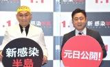 映画『新感染半島 ファイナル・ステージ』の公開記念イベントに参加した錦鯉(左から)長谷川雅紀、渡辺隆 (C)ORICON NewS inc.