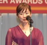 『第32回 日本ジュエリー ベストドレッサー賞』授賞式に出席した斉藤由貴 (C)ORICON NewS inc.