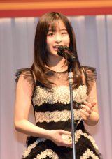 『第32回 日本ジュエリー ベストドレッサー賞』授賞式に出席した森七菜 (C)ORICON NewS inc.