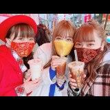 (左から)フジテレビの渡邊渚アナ、生見愛瑠、平祐奈(平祐奈オフィシャルブログ)