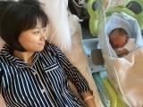 出産直後の母子ショットを公開した高橋ユウ (写真は公式ブログより)