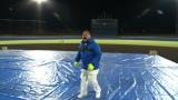 高さ100メートルのマシュマロキャッチに挑戦する出川哲朗=『世界の果てまでイッテQ!』(C)日本テレビ