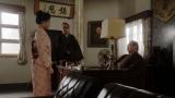 所長室で片金(六角精児)からあることを告げられる千代(杉咲花)=連続テレビ小説『おちょやん』第8週・第40回より (C)NHK