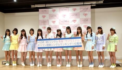 """最新シングル「青春""""サブリミナル""""」発表会を行った=LOVE (C)ORICON NewS inc."""