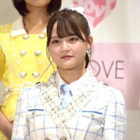 """最新シングル「青春""""サブリミナル""""」発表会に登場した=LOVE・高松瞳 (C)ORICON NewS inc."""