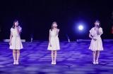 アンジュルム新メンバーが初ステージ(前列左から)川名凜、松本わかな、為永幸音