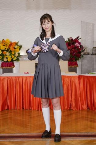 『ゴチ』制服姿を初披露した中条あやみ(C)日本テレビ