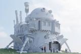 ジブリパークの「魔女の谷」エリアに整備予定の「ハウルの城」CGパース※表面のイメージは完成時と異なります (C)Studio Ghibli