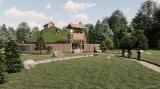 ジブリパークの「もののけの里」エリアに整備予定の「タタラ場」CGパース(C)Studio Ghibli