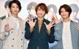 『TEAM HANDSOME!×SHIBUYA109 Valentine Campaign』に来場した(左から)渡邊圭祐、小関裕太、藤原大祐 (C)ORICON NewS inc.