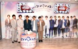 『TEAM HANDSOME!×SHIBUYA109 Valentine Campaign』に来場した(左から)兵頭功海、渡邊圭祐、小関裕太、藤原大祐、新原泰佑 (C)ORICON NewS inc.
