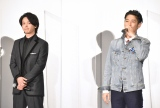 映画『ファーストラヴ』初日舞台あいさつに登壇した(左から)中村倫也、窪塚洋介 (C)ORICON NewS inc.