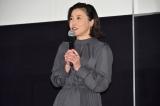 映画『すばらしき世界』公開初日舞台あいさつに登壇した西川美和監督