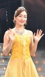 ミュージカル『Endless SHOCK -Eternal-』1800回公演後取材に出席した梅田彩佳 (C)ORICON NewS inc.