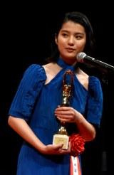 「女優助演賞」を受賞した蒔田彩珠=『第75回毎日映画コンクール』表彰式 (C)ORICON NewS inc.