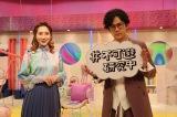 総合テレビ『不可避研究中』2月26日放送は「#今だから教育を考えてみた」MCの稲垣吾郎(右)とファーストサマーウイカ(左)(C)NHK