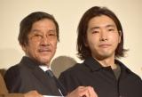 義理の息子である柄本佑との共演で気負っていたことを明かした奥田瑛二(左) (C)ORICON NewS inc.