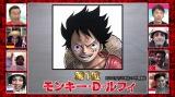 「第1回ONE PIECEキャラクター世界人気投票」の中間順位 (C)尾?栄一郎/集英社