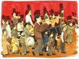 信濃八太郎のイラスト=映画『きまじめ楽隊のぼんやり戦争』3月26日より全国順次ロードショー(C)2020「きまじめ楽隊のぼんやり戦争」フィルムプロジェクト