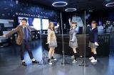 『世界一役に立つ!大人の社会科見学〜世紀のプロジェクト!はやぶさ2成功の秘密〜』取材会に登壇したますだおかだの岡田圭右、入山杏奈(AKB48)、荻野由佳(NGT48)、森香澄アナウンサー (C)テレビ東京