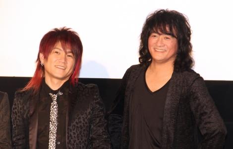映画『GET OVER-JAM Project THE MOVIE-』舞台あいさつに登場したきただにひろし、福山芳樹 (C)ORICON NewS inc.