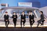 2年6ヶ月ぶりにカムバックしたSHINee(左から)オンユ、テミン、ミンホ、キーとMCの東方神起ユンホ