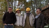 (左から)嬉野雅道ディレクター、大泉洋、鈴井貴之、藤村忠寿ディレクター=『21年目のヨーロッパ旅完結記念!水曜どうでしょう 4人だけのスペシャル裏トーク』公式You Tubeで配信中 (C)HTB