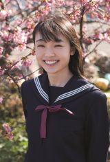 『B.L.T.graduation2021中学卒業』に登場するモーニング娘。 '21・山崎愛生(C)東京ニュース通信社