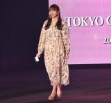 『第32回 マイナビ 東京ガールズコレクション 2021 SPRING/SUMMER』に登場した櫻坂46・渡辺梨加 (C)ORICON NewS inc.
