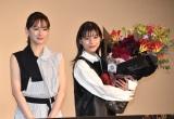 映画『ファーストラヴ』大ヒット御礼舞台挨拶に出席した(左から)北川景子、芳根京子 (C)ORICON NewS inc.