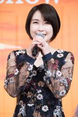 『ARIA』完成披露舞台あいさつ映像に出演した佐藤利奈