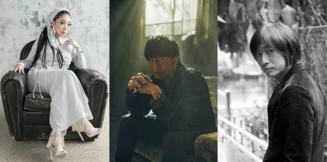 3月11日放送『音楽の日』でコラボ曲を披露する(左から)MISIA、櫻井和寿、小林武史