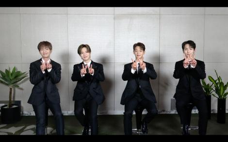 『スッキリ』に出演したSHINee(左から)オンユ、テミン、ミンホ、キー