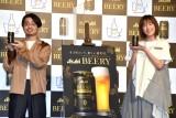 『アサヒ ビアリー』のテレビCM発表会に参加した(左から)ハマ・オカモト、本田翼 (C)ORICON NewS inc.