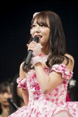 NMB48のイベントでグループからの卒業を発表した白間美瑠(C)NMB48