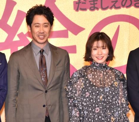 映画『騙し絵の牙』騙し合いバトル開幕式に出席した(左から)大泉洋、松岡茉優 (C)ORICON NewS inc.