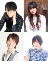 (上段左から)子安武人、上田麗奈、(下段左から)島崎信長、鬼頭明里