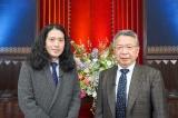 「言葉力」をテーマに対談をした(左から)又吉直樹、佐藤健二教授
