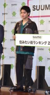 『SUUMO 住みたい街ランキング2021関東版』発表会にゲストとして参加した磯村勇斗 (C)ORICON NewS inc.