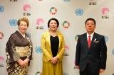 『女性のエンパワーメントと正義の推進〜「京都コングレス」と「国際女性デー」〜』に登壇した(左から)西川ヘレン、根本かおる国連広報センター所長、西川きよし