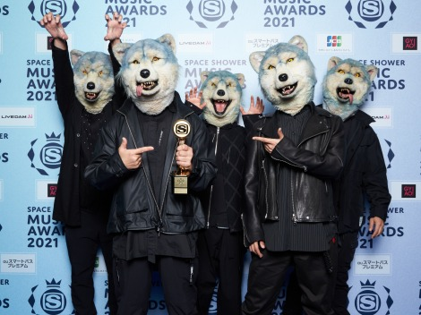 「BEST GROUP ARTIST」受賞のMAN WITH A MISSION