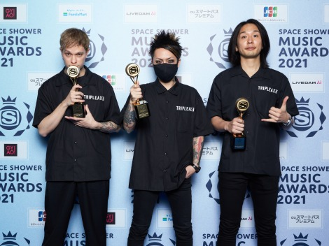 「BEST PUNK LOUD ROCK ARTIST」受賞のTRIPLE AXE
