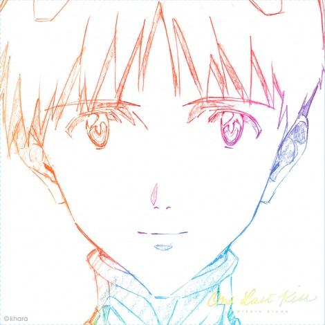 宇多田ヒカルが『新劇場版』に提供してきた関連楽曲を集約したEP『One Last Kiss』のCDジャケット