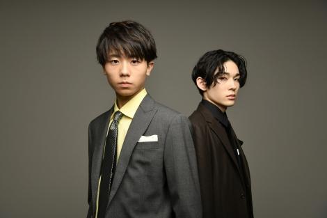 図夢歌舞伎『弥次喜多』オンライン取材会に登壇した(左から)市川團子、市川染五郎(C)松竹