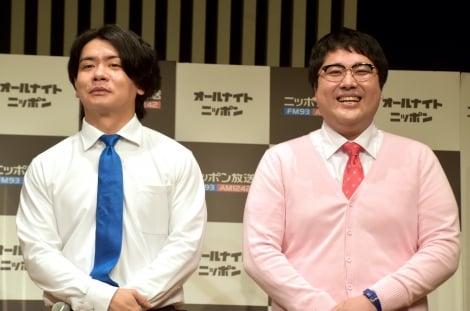 マヂカルラブリーが『ANN0』木曜パーソナリティー就任(左から)野田クリスタル、村上(C)ORICON NewS inc.
