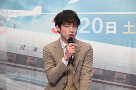 スペシャルドラマ『エアガール』製作発表会見に出席した坂口健太郎(C)テレビ朝日