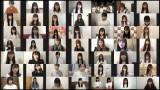 AKB48グループ138人が午後2時46分に各地で黙祷を捧げた(C)AKB48