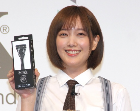 あごひげ名を付けた本田翼=Schick新商品『極 KIWAMI』新CM発表会 (C)ORICON NewS inc.