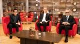 テレビ初の3ショット(左から)藤井フミヤ、芹澤廣明氏、売野雅勇氏 (C)NHK